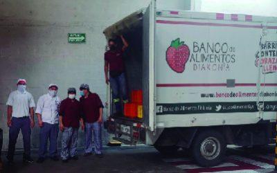 donación productos sweet&coffee al banco de alimentos