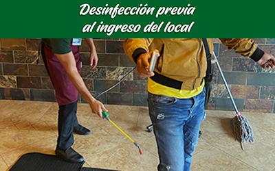 bioseguridad locales sweet&coffee desinfección ingreso