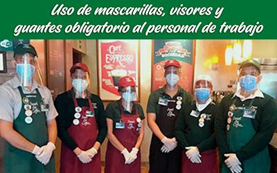bioseguridad locales sweet&coffee mascarillas guantes visores personal del local