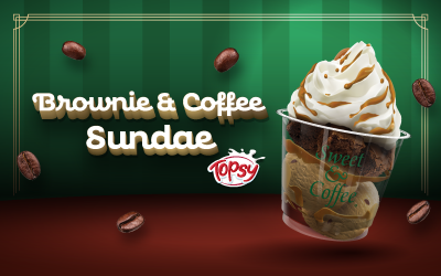 Nuevo Brownie Coffee Sundae