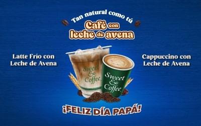 Cafe con leche de avena